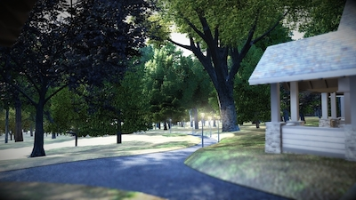 •	The Nature Trail will be lighted and provide handicap-accessible access to the chapel.